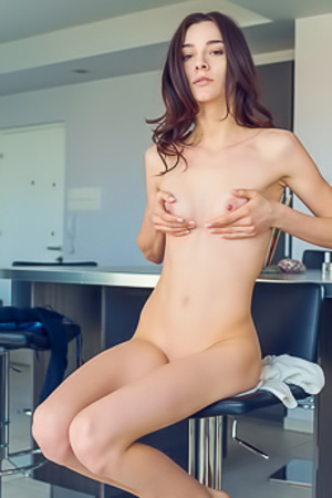 Adel Morel Posing Nude With Sexy Perky Tits